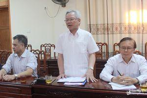 Đoàn công tác Hội đồng Lý luận Trung ương làm việc tại huyện Nghi Lộc