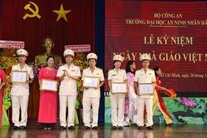 Đại học ANND kỷ niệm 36 năm ngày Nhà giáo Việt Nam
