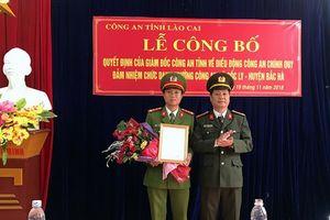 Lào Cai: Bổ nhiệm cán bộ đảm nhiệm chức danh Trưởng Công an xã