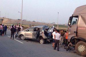 Vụ container đâm xe Innova đi lùi trên cao tốc: Tòa án cấp cao kháng nghị hủy 2 bản án của tòa án Thái Nguyên
