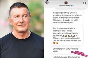 Ông chủ Dolce & Gabbana bị chỉ trích vì nhục mạ người Trung Quốc