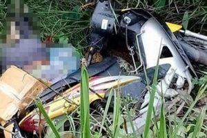 Phát hiện thi thể người đàn ông chết bên vệ đường cùng xe máy