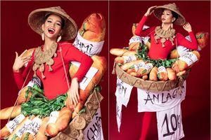 H'Hen Niê chọn 'bánh mì' làm trang phục dân tộc tại 'Hoa hậu Hoàn vũ 2018'
