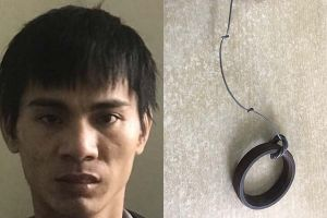 Tạm giữ gã nghiện dùng dây thép siết cổ người quen cướp tài sản