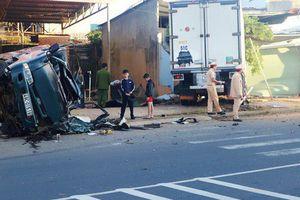 Lâm Đồng: Va chạm xe tải với xe đông lạnh, thai phụ văng từ cabin ra đường