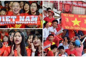 Những hình ảnh đẹp trên khán đài trong trận Việt Nam - Myanmar