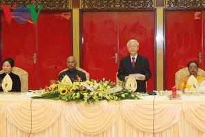 Tổng Bí thư, Chủ tịch nước chủ trì chiêu đãi trọng thể Tổng thống Ấn Độ