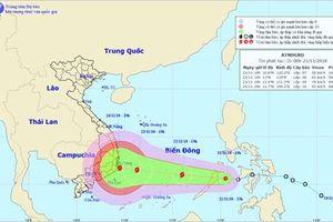 Áp thấp nhiệt đới đi vào Biển Đông, vùng nguy hiểm có gió giật cấp 6