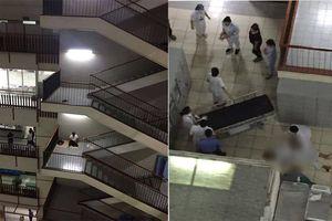 Bỏ lại dép, nam bệnh nhân leo ra lan can tầng 3 Bệnh viện Bạch Mai nhảy xuống
