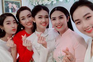 Dàn Hoa hậu, Á hậu rạng rỡ trong lễ ăn hỏi Á hậu Thanh Tú