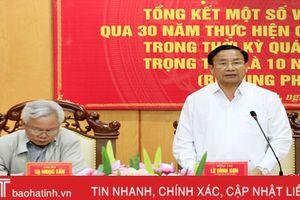 Hà Tĩnh có bước phát triển vượt bậc trong quá trình đổi mới đất nước