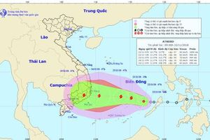 Chiều tối nay (22/11), áp thấp nhiệt đới sẽ mạnh lên thành bão