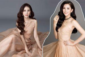 Đang thi Miss World tại Trung Quốc, Tiểu Vy vẫn 'hack não' fan khi đụng hàng cả loạt mỹ nhân Việt