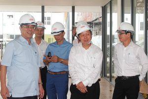 Kiểm tra tiến độ thi công công trình trường học 250 tỷ tại Quảng Trị