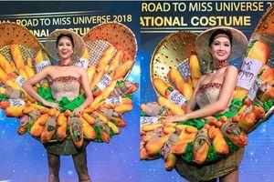 Cận cảnh bộ quốc phục bánh mì kẹp thịt mà H'Hen Niê mang đi thi Hoa hậu Hoàn vũ Thế giới 2018