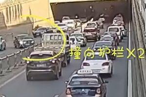 Đạp nhầm chân ga, nữ tài xế gây tai nạn 'như trong phim'