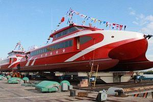 Hạ thủy tàu cao tốc 2 thân lớn nhất, hiện đại nhất Việt Nam