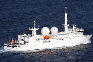 Cận cảnh tàu do thám Pháp đến Syria để 'săn' tàu chiến Nga