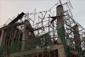 Sập công trình xây dựng tại Long An, ít nhất 5 người thương vong