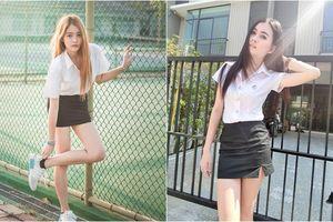 Đồng phục gợi cảm nhất châu Á: Váy ngắn trên gối còn bó sát khoe hết đường cong của nữ sinh viên Thái Lan