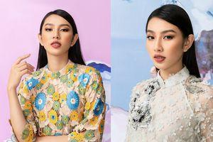 Vừa trở về từ Miss International 2018, Thùy Tiên gây thích thú khi mặc áo dài đi boots