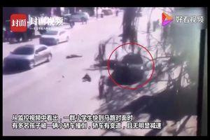 Trung Quốc: Tài xế lái xe Audi lao vào nhóm học sinh tiểu học đang sang đường