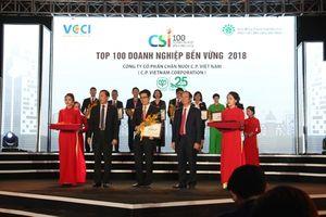 C.P. Việt Nam đoạt giải Doanh nghiệp phát triển bền vững