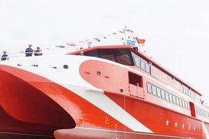 Hải Phòng: Hạ thủy tàu cao tốc hai thân lớn nhất đóng tại Việt Nam
