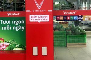 Cận cảnh trạm sạc xe máy điện miễn phí đầu tiên của Vinfast tại Hà Nội