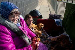 Người Mỹ dựng lều, xếp hàng từ đầu tuần chờ Black Friday bất chấp giá lạnh