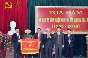 Phó Chủ tịch Quốc hội Uông Chu Lưu dự Lễ kỷ niệm 55 năm thành lập huyện Anh Sơn