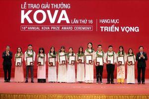 Trao giải 4 hạng mục tại Giải thưởng và học bổng KOVA lần thứ 16-2018