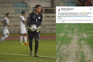 Thủ môn Philippines chê mặt sân ở Indonesia quá xấu