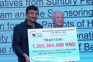 Hơn 1,2 tỉ đồng cho chương trình 'Nước sạch học đường'