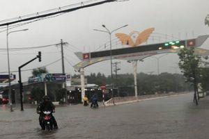 Bão số 9: Mưa lớn, nhiều tuyến đường ở Bình Dương ngập sâu