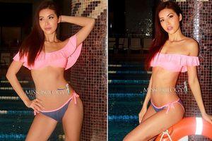 Bị vỡ mao mạch, Minh Tú vẫn gợi cảm thi áo tắm ở Hoa hậu Siêu quốc gia