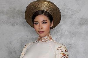 Minh Tú đem áo dài 'Con rồng cháu tiên' tới Hoa hậu Siêu quốc gia 2018
