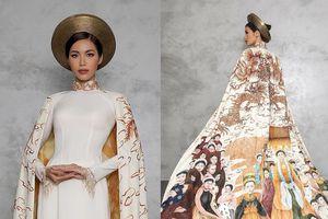 Minh Tú 'chơi nổi' khi đem tận 2 bộ quốc phục tới Miss Supranational