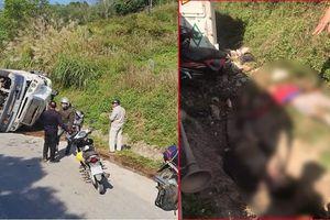 Xe container lật nghiêng đè trúng đoàn đi phượt ở Lạng Sơn