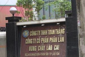 Vi phạm trong lĩnh vực môi trường, hai công ty tại Lào Cai bị xử phạt