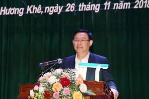 Phó Thủ tướng Vương Đình Huệ tiếp xúc cử tri tại Hương Khê, Hà Tĩnh