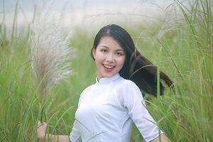 Ngắm vẻ đẹp rạng ngời Á khôi sinh viên Nghệ An 2018 giữa cánh đồng lau
