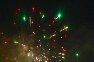 Clip: Mãn nhãn với màn pháo hoa tại sân Mỹ Đình