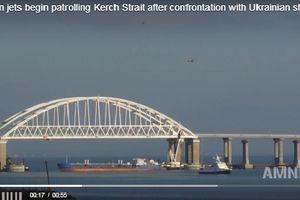 Clip: Chiến cơ Nga tức tốc tới Crimea sau vụ đụng độ với 3 tàu Ukraine