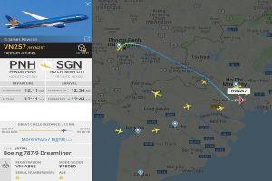 Nhiều chuyến bay đến TP.HCM bị điều hướng sang sân bay Phnom Penh hay lân cận do ảnh hưởng của bão Usagi