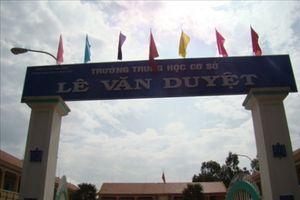 Tịnh Biên: Trường THCS Lê Văn Duyệt đạt chuẩn quốc gia