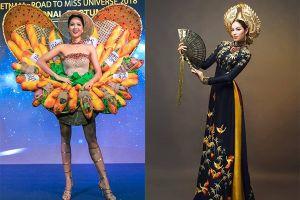 Trước 'Bánh mì', người đẹp Việt diện quốc phục gì tham dự Miss Universe 2018?