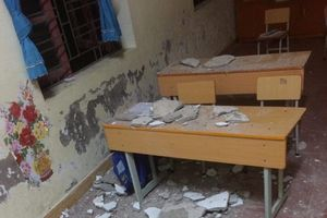 Hải Phòng: Mảng vữa trần rơi, 3 học sinh Trường Tiểu học Lý Học nhập viện