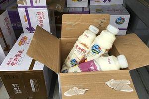 Cẩn trọng khi sử dụng sữa chua uống Trung Quốc nhập lậu