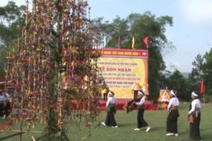 Độc đáo Lễ hát múa ăn mừng dưới cây bông